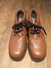 mens brown boots size UK 9 lace up leather upper heat oil resistant sole Winter