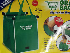 SET 2 SUPERMARKET SHOPPING TROLLEY BIG BAGS LARGE STRONG REUSABLE GRAB BAG UK