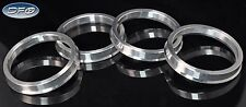 4PC ALUMINUM HUB CENTRIC RINGS 57.1MM CAR HUB TO 66.5MM WHEEL BORE FIT AUDI VW