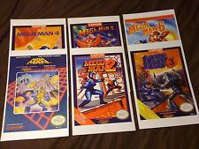 Mega Man NES 6-Pack, 6 11x17 Box Art Posters - Nintendo NES No Game -