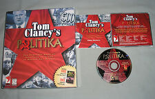 Tom Clancy's Politika - PC Computer CD Video Game in Big Retail Box w/MINT DISC!