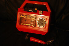 RARE Vintage 1982 Solid Gold Rock Star Tape Cassette Player w/ Microphone