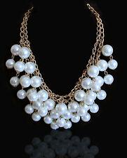 Statement Halskette Perlen Damen Blogger Collier Necklace 2 Two Broke Girls