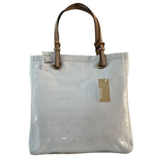 Michael Kors Tote Bag MK Jet Set Mirror Metallic in White Agsbeagle