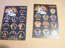 POGS MORTAL KOMBAT LIVE TOUR BOTH TYPES/SETS COMPLETE SET OF ALL 20 ON 2 CARD