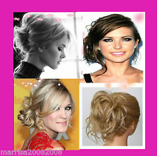 NEW FASHION HAIR SCRUNCHIES / ELASTIC HAIR PIECES UPSTYLE MESSY LOOK Y