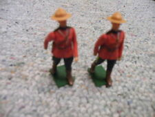 Britains 1/32 54mm Eyes Right RCMP Royal Canadian Mounties x2 Lot 5