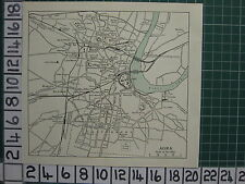 1959 INDIA/PAKISTAN TOURIST MAP ~ AGRA CITY PLAN UNIVERSITY COLLEGE STATIONS
