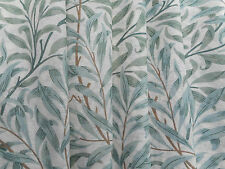 William Morris Curtain Fabric 'Willow Boughs' 3.75 METRES (375cm) Green Voile