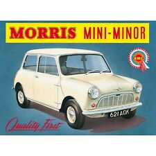 Morris Mini Minor -  Metall Deko Plakat original aus England