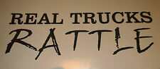 Real Trucks Rattle - Vinyl Decal for Jeep, Car or Truck