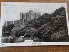 Vtg B/W Real Photo Postcard DOVER CASTLE KENT MEDIEVAL building Key to England