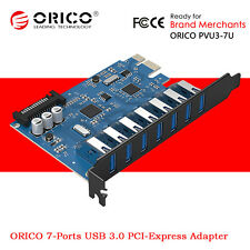 ORICO 7-Ports USB 3.0 HUB PCI-E Express Expansion Card Adapter 15Pin SATA Power