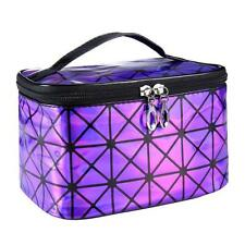 Girl Portable Make UP Bag 3D laser Diamond Pattern Travel Cosmetic Bag PP