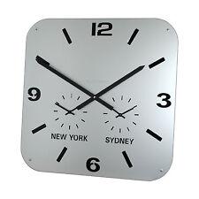 Roco Verre Retro City Time Clock Silver