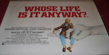 Cinema Poster: WHOSE LIFE IS IT ANYWAY? 1981 (Quad) Richard Dreyfuss