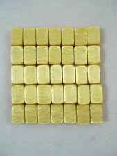 35 Vintage Flat Rectangle Beads Light Caramel Honey Color 8x12mm Acrylic