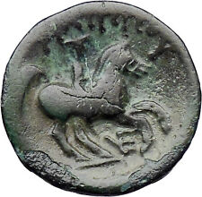 Philip II Alexander the Great Dad OLYMPIC GAMES Ancient Greek Coin Horse i30326