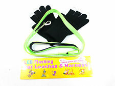 Pets Safe LED 3 Mode Flashing Dog Lead+Smart skin Gloves BE SEEN BE SAFE HI VIZ
