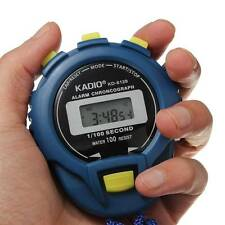 Cool LCD Digital Chronograph Timer Stopwatch Sport Counter Odometer Watch Alarm