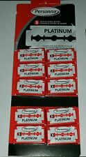 50 Israeli Red Personna Platinum Stainless Steel Double Edge Razor Blades