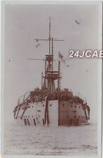 "Royal Navy Real Photo. HMS ""Dreadnought"" Battleship. Seagull Inspection! c 1907"