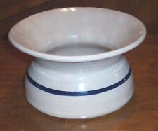 MAKE AN OFFER ON THIS ANTIQUE BLUE STRIPE POTTERY SPITOON OR CHAMBER POT