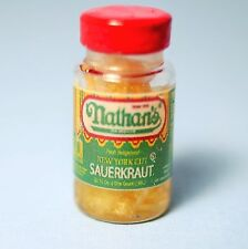 "Dollhouse Miniature Name Brand ""Sauerkraut"" Jar : G143-2"