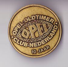 Vtg OPEL VETERAN OLDTIMER CLUB NEDERLAND 10 years emblem badge abzeichen