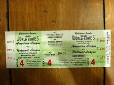 BALTIMORE ORIOLES 1960 Phantom World Series Tickets Rare Vintage