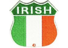LOT OF 5 - IRISH SHIELD EMBROIDERED PATCH