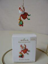 Hallmark Ornament 2010 FESTIVE SANTA Miniature #2 in Series NEW Santa Claus Bag