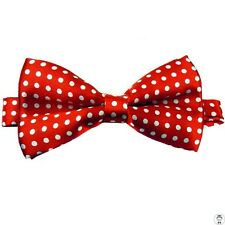 1 x mens ladies silk bow tie bowtie necktie wedding party tuxedo red white boys