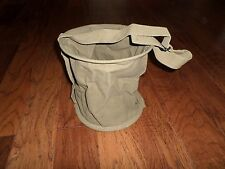 COLLAPSIBLE CANVAS WATER BUCKET 2 GALLON PAIL WITH CARRY HANDLES OD GREEN