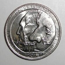 2013 US Quarter, 25 cents, National Parks, Mount Rushmore, South Dakota coin