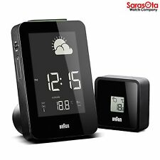 Braun BNC013BK-RC Radio Control Temp/Humid Weather Station Quartz Alarm Clock