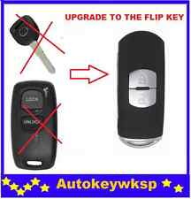 2 BUTTONS FLIP KEY CASE SHELL KEYLESS ENTRY FOR MAZDA 2 3 6 323 626 REMOTE