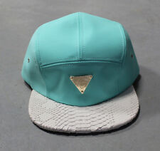 Hater Teal Snakeskin 5 Panel Cap hat snapback NEW