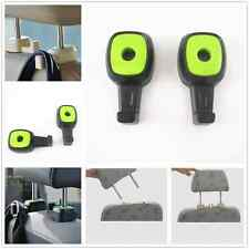 Car Truck SUV Back Seat Headrest Green Holders Hooks For Bags Grocery For Acura
