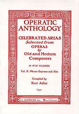 Operatic ANTHOLOGY volume II mezzo-soprano alto VOCAL PIANOFORTE Choral Music BOOK