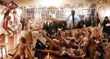 STAMPA  TELA CANVAS DAVID LACHAPELLE HAPPY NEW YEAR 1932 MODERNO POP ART 70X130