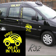 Free Wi Fi In Taxi Car Decal Vinyl Sticker For Bumper Window Panel