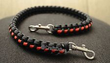 Firefighter thin red line - 550 paracord survival lanyard - handmade