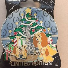 WDI Disney Christmas Dogs Lady & the Tramp Puppies Scamp Collette Danielle Pin
