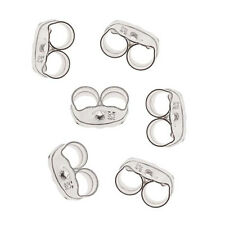 Sterling Silver Earring Backs (Earnuts) Fine 4mm (12)