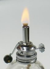ALCOHOL LAMP GLASS SPIRIT LAMP BURNER FACETED SIDES & ADJUSTABLE WICK WAX WORK