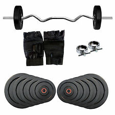 Fitfly Home Gym Set 20 kg Weight+3ft Curl Rod+Hand Gloves