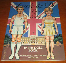 1982- CHUCK AND DI HAVE A BABY PAPER DOLL BOOK- SIMON AND SCHUSTER,NEW YORK