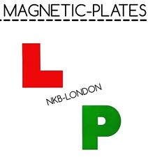 4x*MAGNETIC* LEARNER DRIVER PLATE EXTERIOR CAR L & P SECURE SAFE SIGN PLATES