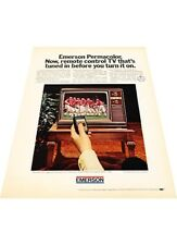 1972 Emerson TV Television Remote control - Vintage Advertisement Print Ad J405